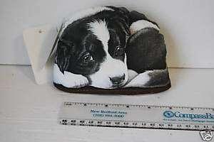 Border Collie Dog Desk Pupper Paper Weight Bean Bag New