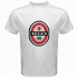 Becks Beer Logo New White T Shirt