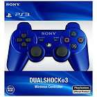 Official Sony Blue Dualshock 3 Playstation 3 PS3 Wireless Controller