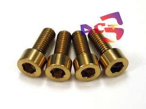 M6 x 15mm Titanium/Ti Bolt Gold  Shimano Disc Brake