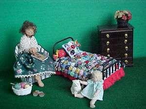 Custom Dollhouse Miniature Yo Yo Quilt Kit 112 Scale