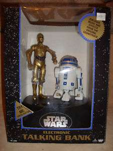 STAR WARS C3PO R2 D2 ELECTRONIC TALKING BANK 1995