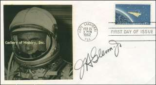 JOHN H. GLENN JR.   FIRST DAY COVER SIGNED