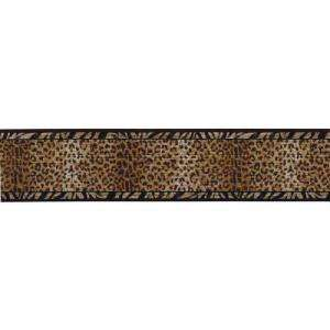 The Wallpaper Company 6.75 in x 15 ft Black And Gold Animal Print