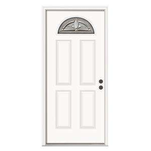 JELD WEN Blakely 36 in. x 80 in.Primed White Prehung Left Hand Inswing