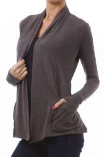Grey Gray Cardigans Sweaters Fly Away Pockets Long Sleeves Juniors