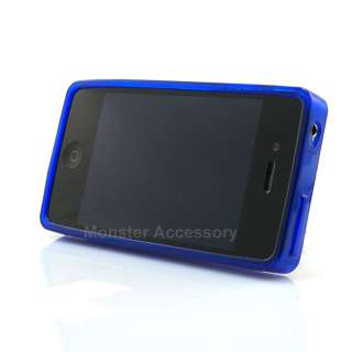 Blue Cassette Soft Candy Skin TPU Gel Case Cover For Apple iPhone 4S