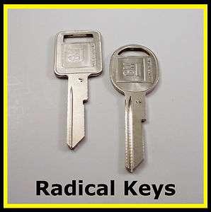 Chevy Chevrolet Corvette Key Blank 1970 1974 1978 1982