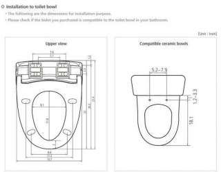 BD RA779 Remote Control Bidet Toilet Seat Dryer+Filter 5EA 30 Months