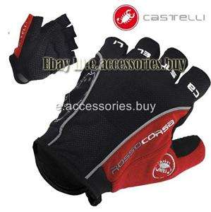 Corsa Bike Cycling Bicycle Fingerless Gloves Black/red S/M/L/XL