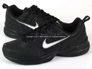 Leather Black/White Metallic Silver Lace Up Training 429633 001