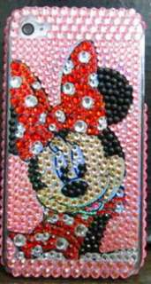 Mickey Minnie Mouse bling crystal skin hard case cover for Apple