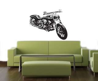 BIKE CHOPPER HARLEY VIKING ART Vinyl Decal Sticker B38