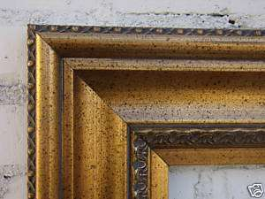Picture/Frame/Wide/Antique/Gold/Leaf/Wood 30x40/30 x 40