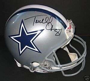 Terrell Owens Autographed Cowboys PRO Helmet Signed PSA