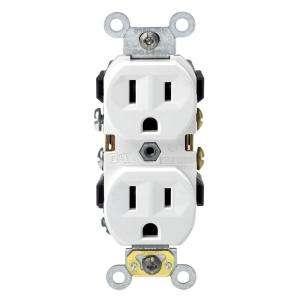 Leviton Prograde 15 Amp Duplex Double Pole Outlet R62 CBR15 00W at The