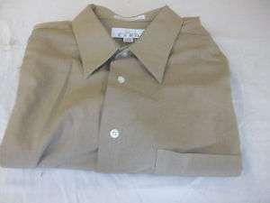 Enro Dark Tan Cotton Dress Shirt Size 17.5 #303K