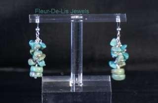 Jay King MINE FINDS Green Turquoise Festival Dangle Earrings