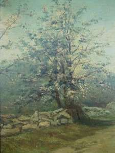 Antique Oil Painting on Board FRANK MATZOW (1861 1938) Landscape Early
