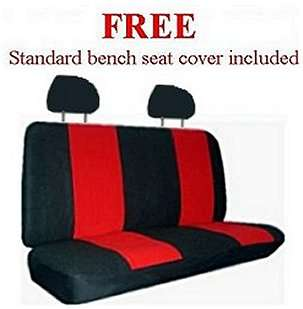 RED BLACK XTREME CAR TRUCK SUV SEAT COVER PKG  & MORE