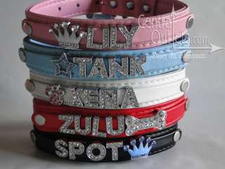 Personalized Collar Dog Cat Pet With Name   SmoothTexture   XS, S, M
