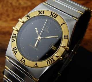 BEUTIFUL 0MEGA CONSTELLATION 18K SOLID GOLD BEZEL QUARTZ MENS Watch