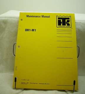 Thermo King UH1 M1 Coach Bus Heater Maintenance Manual |