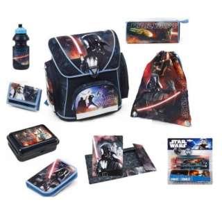 Star Wars Schulranzen Set Federmappe 14tlg+Dose+Flasche