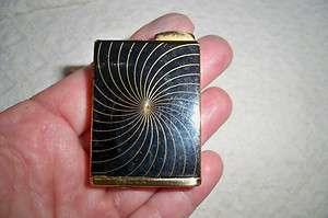 Deco Consul Amor German Perfume Atomizer Black Enamel/Gold Tone