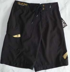 BILLABONG RECYCLER HYDROSTRETCH BLACK BOARD SHORTS/SWIM TRUNKS BOYS