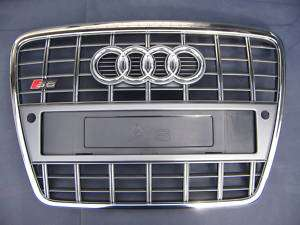 Audi S6 4F A6 original Kühlergrill Kennzeichenhalter