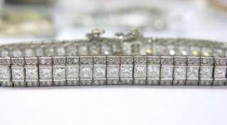 Platinum Multi Shape Diamond Tennis Bracelet 10.03Ct