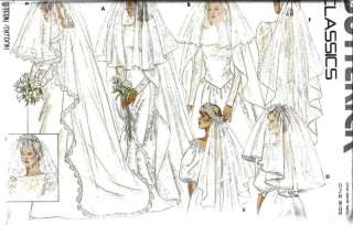 Butterick SEWING Pattern Wedding Bridal Veils 4649 OOP Lace Edged