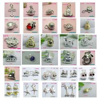 Different style 925 Sterling silver Pendant charms SA