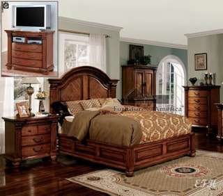 BELLAGRAND TOBACCO OAK WOOD LOW PROFILE QUEEN KING BED