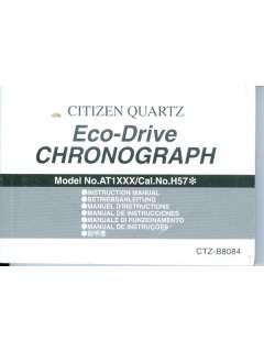 Citizen Eco Drive Chronograph AT1XXX Cal. No. H57 Book