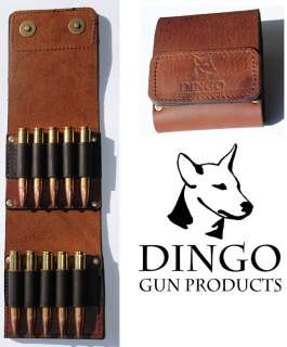LEATHER CENTREFIRE RIFLE BULLET WALLET ~ Magnum C/FIRE~