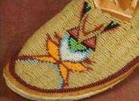 Shoshone Indian Hand Beaded Ladies Leather Moccasins   Eva McAdams