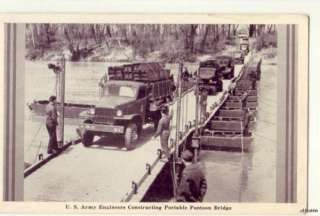 ARMY ENGINEERS PORTABLE PONTOON BRIDGE 1942