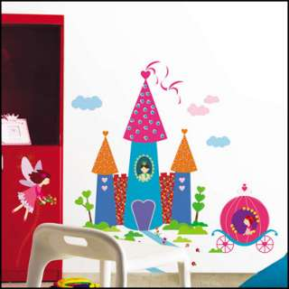 Dream Castle KIDS WALL JEWELLY STICKER Removable Decal
