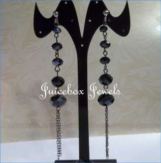 Faceted Crystal 3.75L Dangle Fashion Earrings(B723) USA Seller