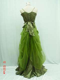 Cherlone Satin Dark Green Sparkle Lace Ball Gown Wedding/Evening Dress