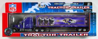 BALTIMORE RAVENS NFL TRACTOR TRAILER SEMI TRUCK NEW