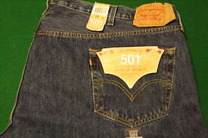 New Mens BIG & TALL LEVIS 501 Button Fly Jeans