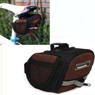 2012 Cycling Bicycle Bike Saddle Outdoor Pouch Seat Bag 600D Orange