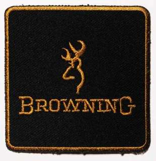 BROWNING Firearms   Embroidered Company Logo 3 Patch
