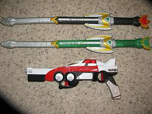 Lot POWER RANGER Weapons Guns Foam Sword RARE Morph 3 in 1 Noise Light