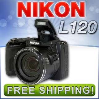 Nikon Coolpix L120 Digital Camera 14.1MP 21X (Black) 26253 NEW