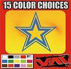 Star vinyl sticker decal car truck locker folder Football Dallas
