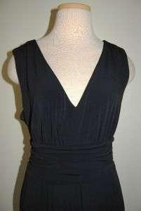 ALFANI APRIL DRESSY BLACK V NECK PLEATED DRESS WOMENS SZ L, NEW